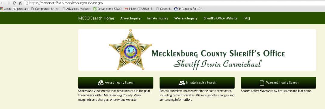 Mecklenburg County Jail Inmate Arrest Information 2016