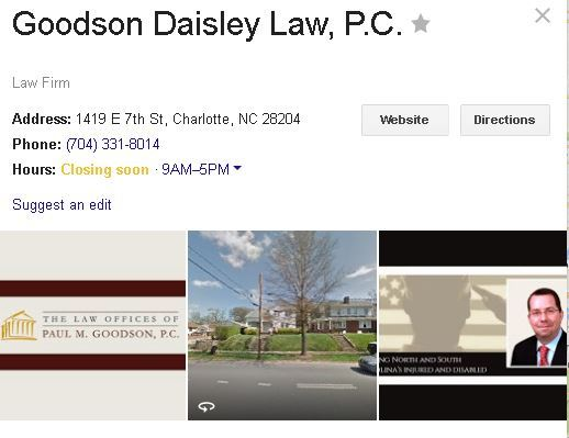 Goodson Daisley Law Contact Info 2016