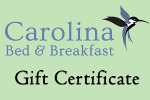 Asheville Bed and Breakfast Gift Certificate