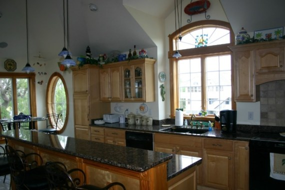 Custom interior design of kitchen in Outer Banks residential home