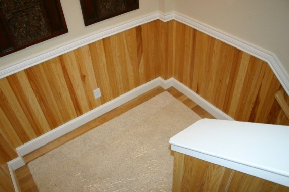 Custom built interior woodworks
