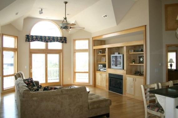 Custom built interior living room entertainment