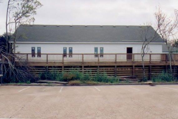 Duck United Methodist Church external view of fellowship hall