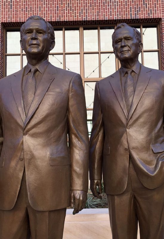 George H and George W Bush, George W Bush Library, TX