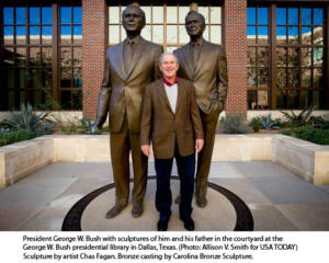 George W Bush and George H Bush
