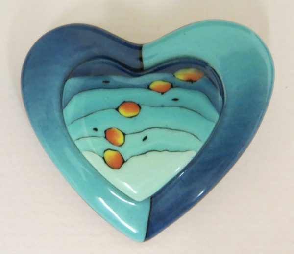 Blue Bus Studio Heart Pin