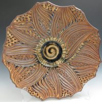 Sarah Rolland Bowl Carved Cut Rim