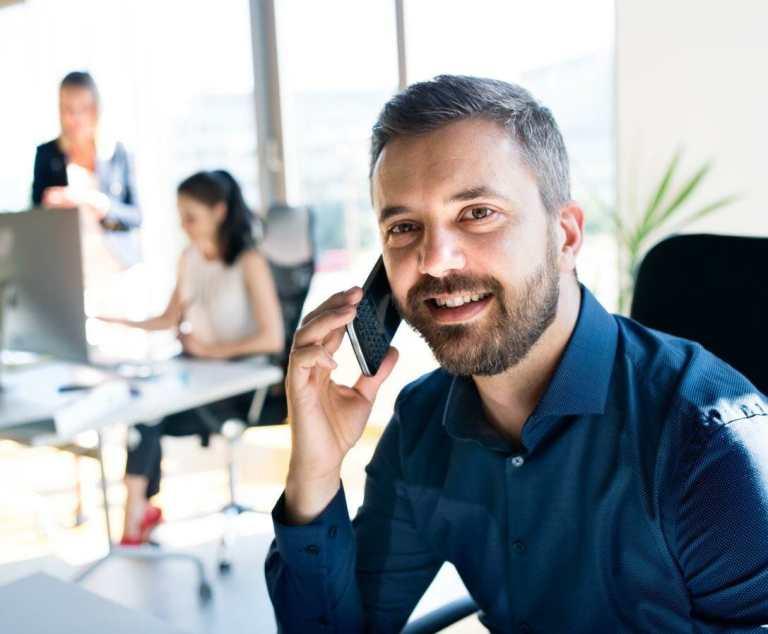 making a phone call