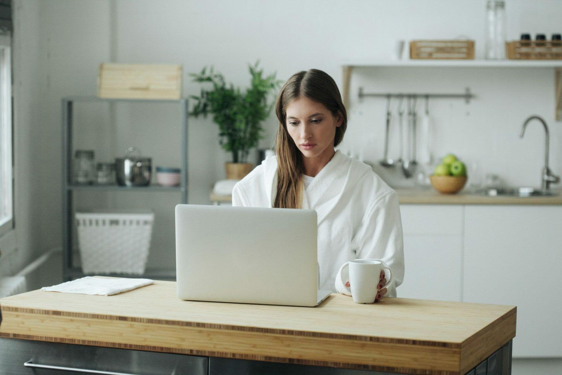 woman working in kitchen