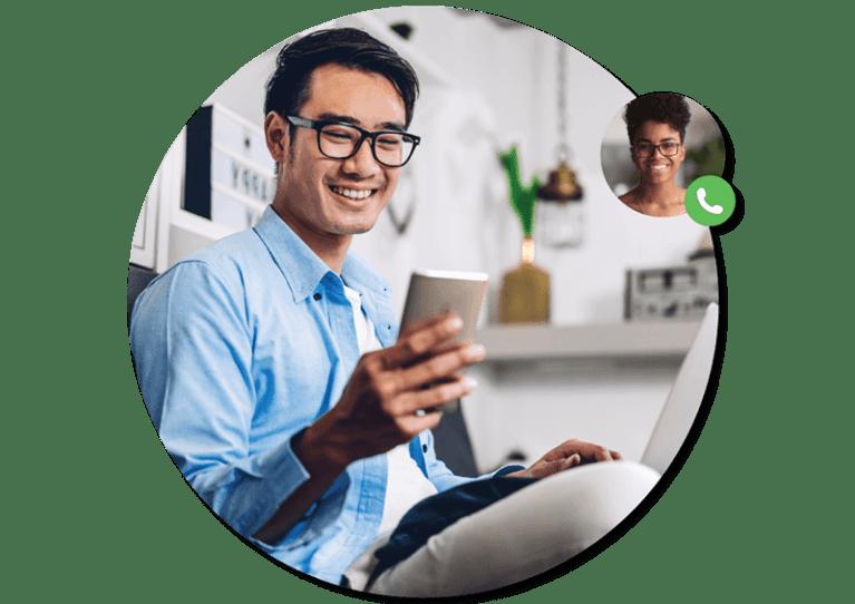 business phone app telecommunicating