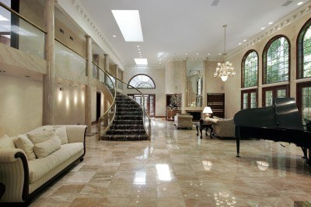 Marble Floor Living Room Design