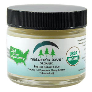 USDA Certified Organic Topical ReLeaf Salve – Full Spectrum Hemp Extract – 500mg