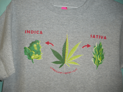 T-Shirt: Indica and Sativa from Hemp Hut