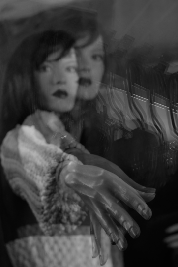 Hi. Double exposure. Thrift Store, Mission St, San Francisco.