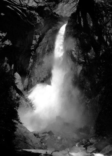 Waterfall, Yosemite.