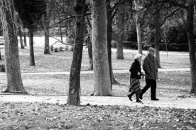 Couple. El Retiro, Madrid.