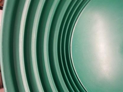 Trinity Bowl Gold Pan - Green