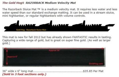 Razorback ™ Medium Velocity Mat - The Gold Hog