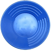 """Blue - Martin Prospecting Original 10"""" Gold Pan"""