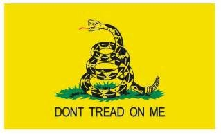 """Don't Tread On Me"" Sticker 4"" x 6"""