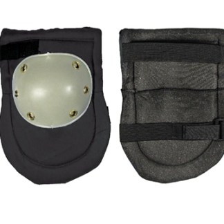 "2pc Knee Pads with Plastic Caps, Size: 6-3/4"" X 9-3/4, Thickness : 12MM"