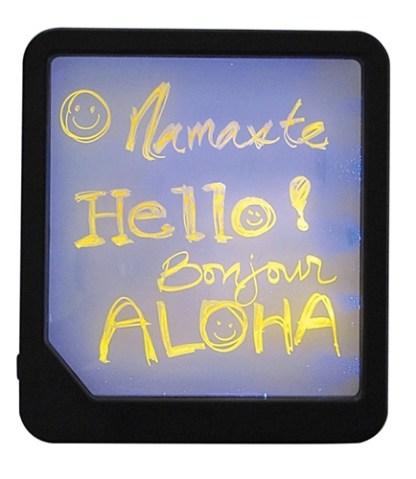 "9"" x 8"" x 3/4"" Neon Blackboard with One Illuminating Marker"
