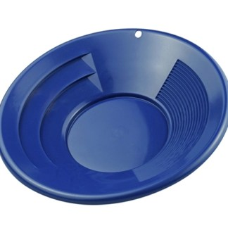 "14"" Gold Pan, Dual Riffles - Blue"
