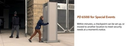 PD 6500i™ Enhanced Pinpoint Walk-Through Metal Detector  EZL VERSION - GRAY