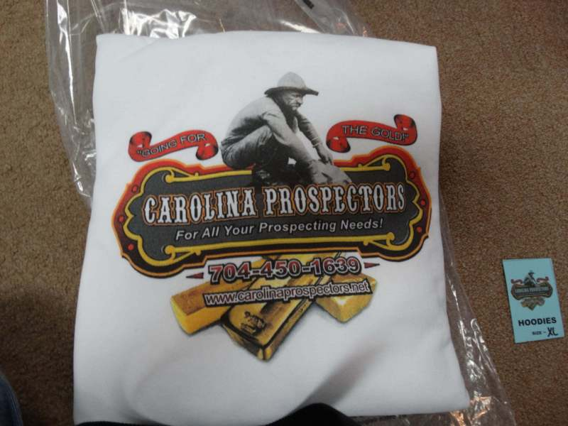 Carolina Prospectors HOODIES X-LARGE White - Prospector