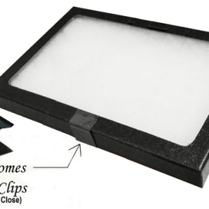 "Glass Top Display Box 16"" X 12"" X 3/4"""
