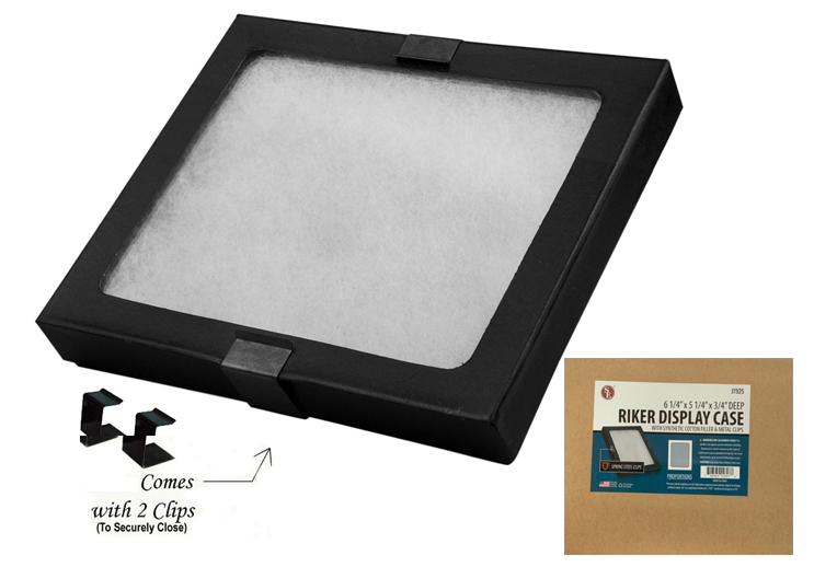 "Glass Top Display Box 6.25"" x 5.25"" x 3/4"""