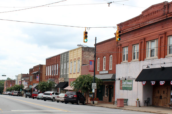 Downtown Rutherfordton, pictured in August 2012. Katie Bailey/Carolina Public Press