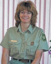 Kristin Bail, forest supervisor of the National Forests in North Carolina. Image via the U.S. Forest Service.