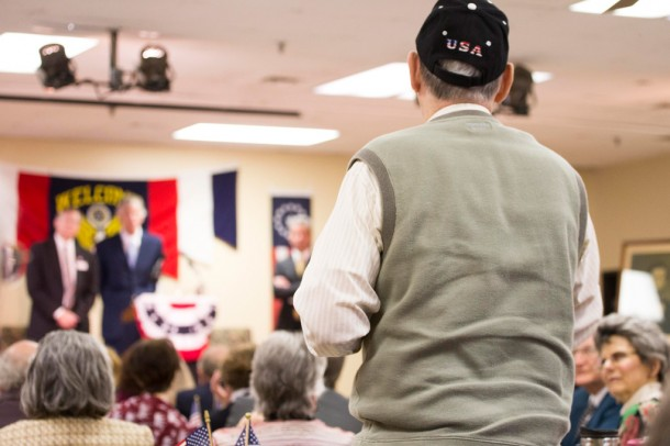 Nearly 150 people attended the Henderson County GOP Convention held March 22. Alicia Funderburk/Carolina Public Press