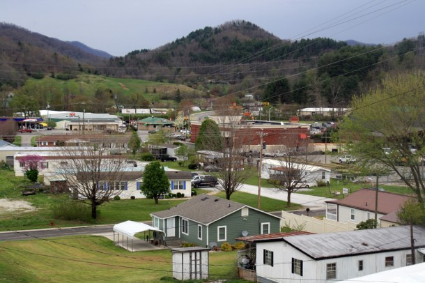 A view of Robbinsville, the home of Stanley Furniture, Graham County's largest employer. Gwen Albers/Carolina Public Press