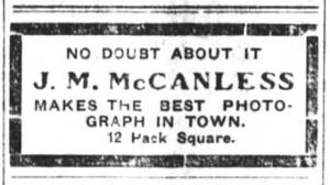 May 7, 1904 McCanless photo ad