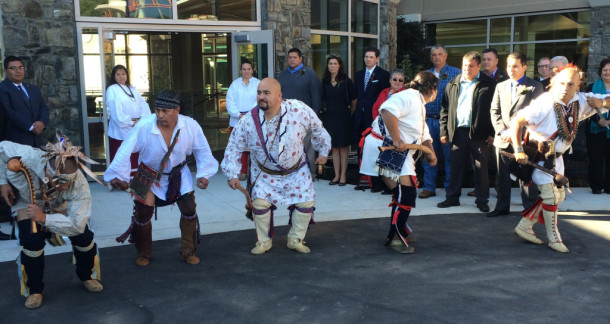 A Warrior Dance in honor of the opening of the hospital. Taylor Sisk/N.C. Health News