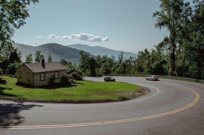 Some expectant mothers in Western North Carolina will face drives of an hour or longer along winding roads, like this one between Spruce Pine and Marion, to reach the nearest hospital offering childbirth services.
