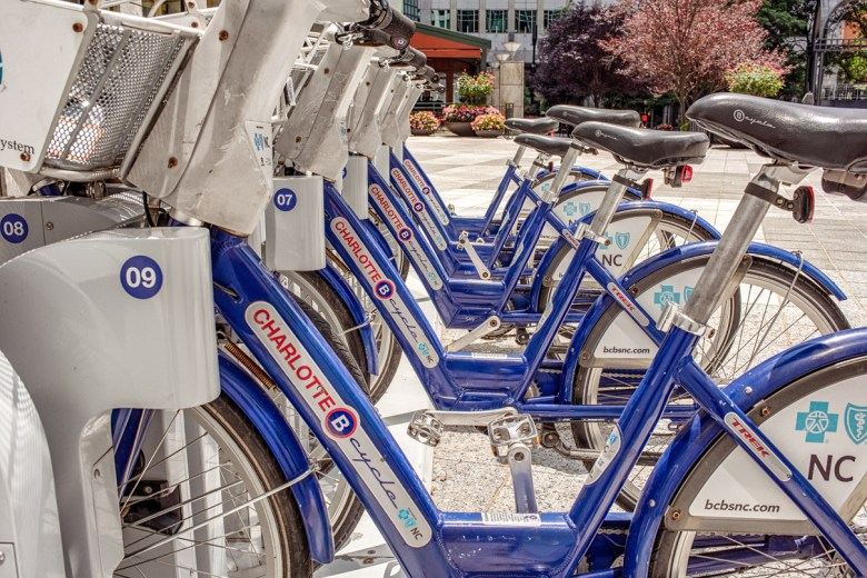 BCycle bikes in Charlotte