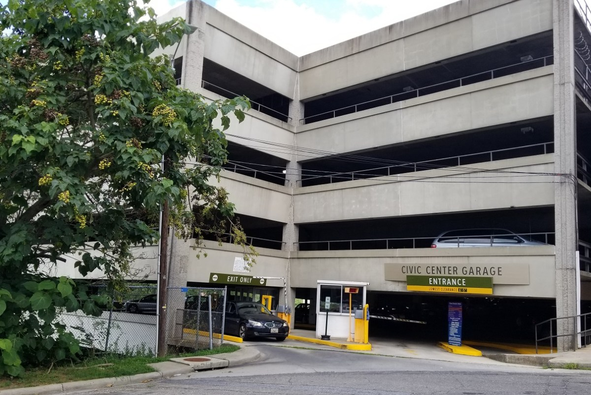 Parking garage in downtown Asheville