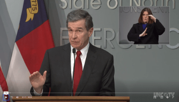 NC Gov. Roy Cooper COVID-19 pandemic press conference screen grab