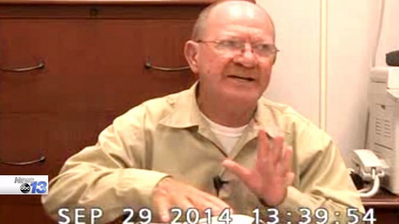 Former Buncombe County Sheriff Bobby Medford, 74, was a resident of federal prison in Butner. He died of complications from COVID-19. Screen image courtesy of WLOS.