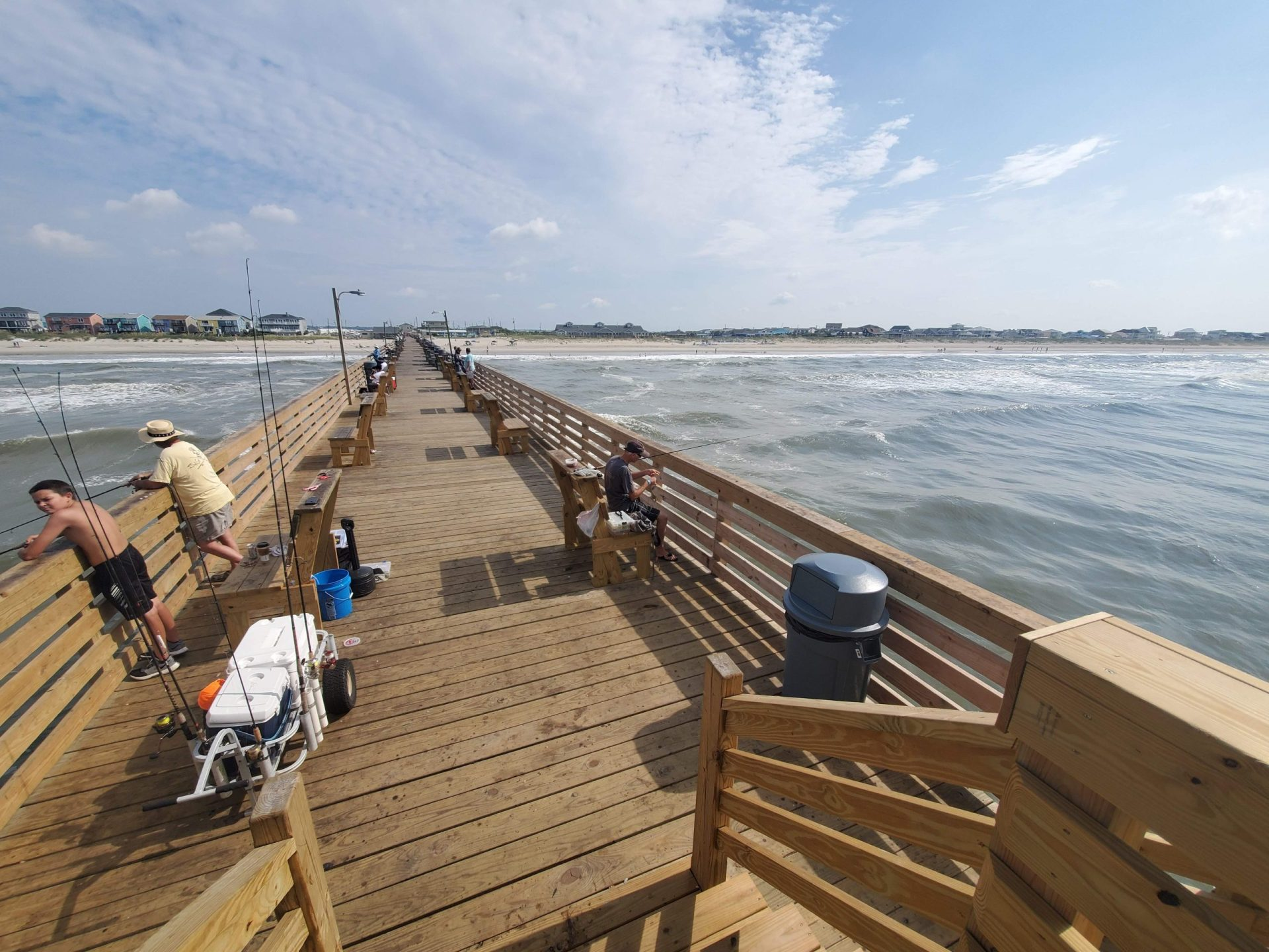 pier Atlantic Beach fish coastal environment habitat tourism economy hurricane risk