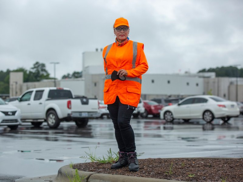 Marisela Martinez contracted COVID-19 while working as a housekeeper at Mountaire Farms in Siler City, NC.
