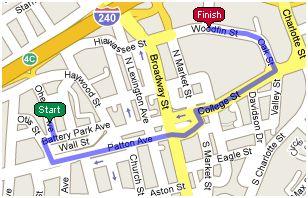 First Mile of the 2009 Citizen-Times Half Marathon