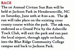 Civitan Sun Run Course Descriptions