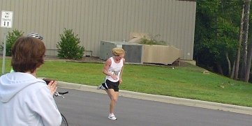 Josey Weaver Winning the Sourwood 5k