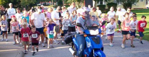 Start of the Mini Moo Mile.