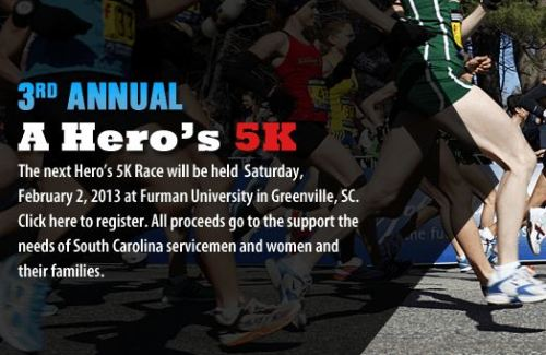 A Heros 5k - Furman University - Greenville SC
