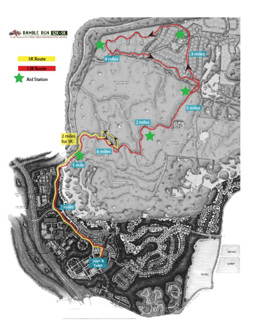 Ramble Run Course Map (click for larger version)